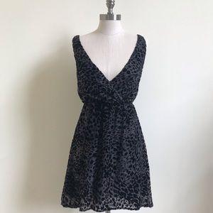 Cheetah print sleeveless high / low  Dress